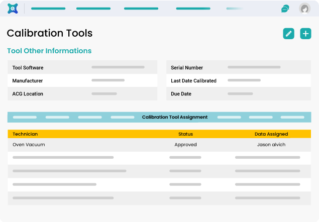 Backend Operations for Calibration Management